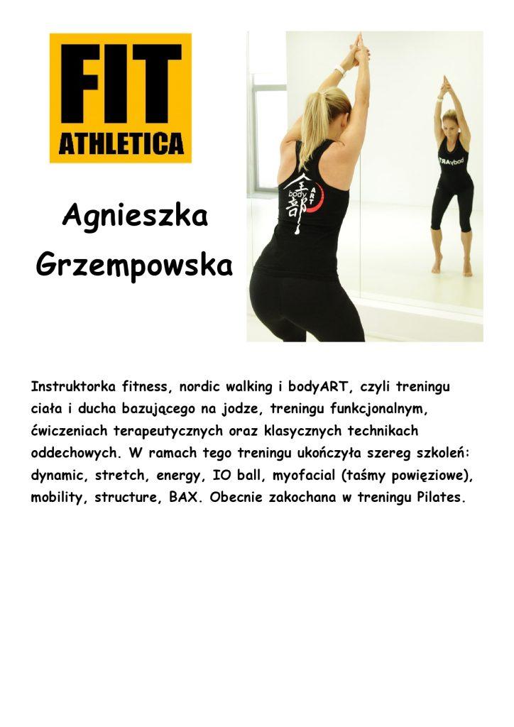sylwetka trenera - Agnieszka Grzempowska