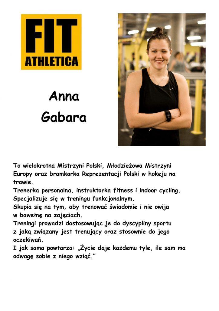sylwetka trenera - Anna Gabara