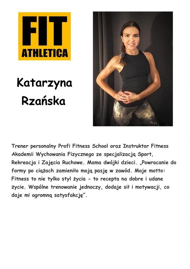 sylwetka trenera - Katarzyna Rzańska
