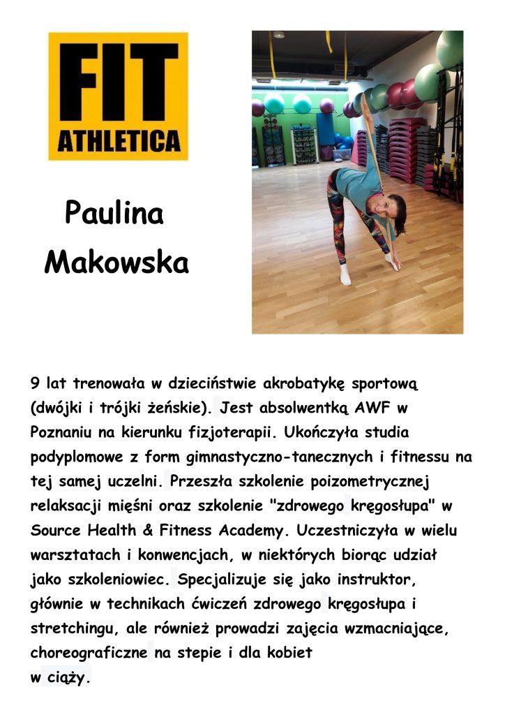 sylwetka trenera - Paulina Makowska