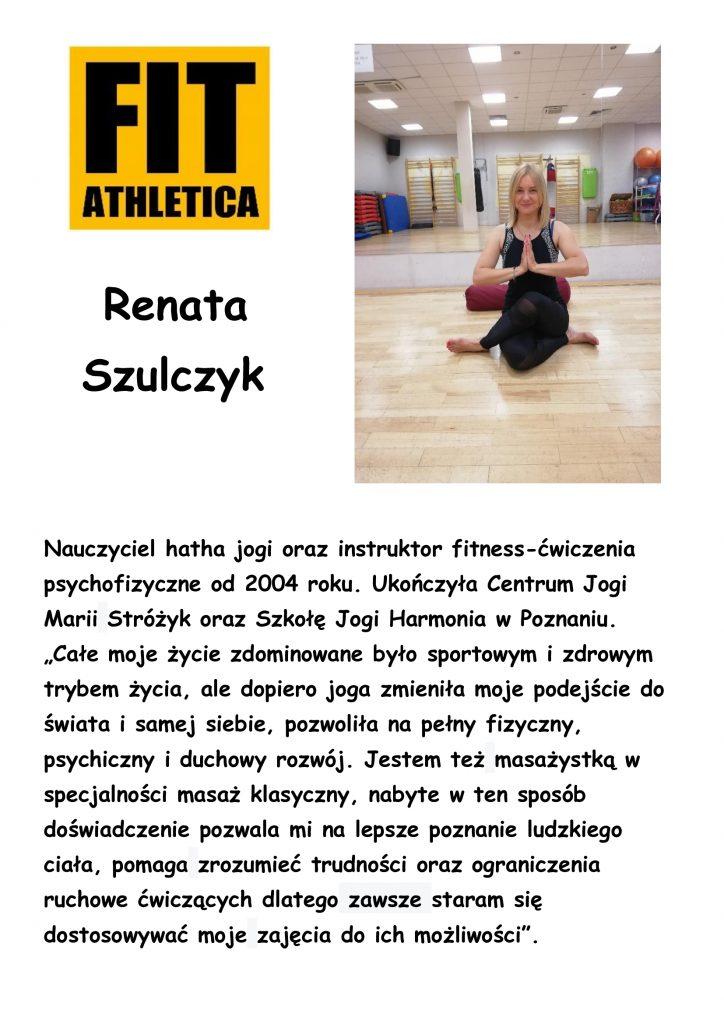 sylwetka trenera - Renata Szulczyk