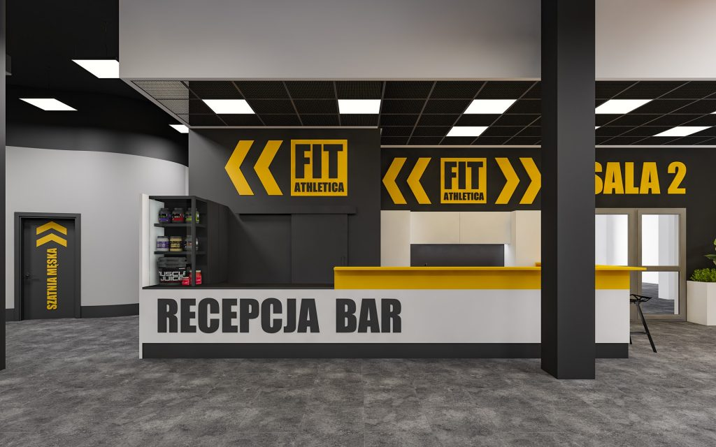 recepcja i bar w klubie fitatletika